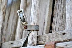 Pezzo di legno del recinto immagini stock