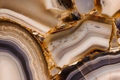 Pezzo di struttura lucidata dell'agata Immagini Stock Libere da Diritti