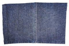 Pezzo di tessuto blu scuro dei jeans Immagine Stock Libera da Diritti