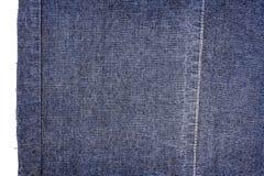 Pezzo di tessuto blu scuro dei jeans Immagini Stock