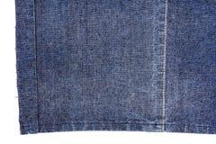 Pezzo di tessuto blu scuro dei jeans Fotografia Stock Libera da Diritti