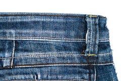 Pezzo di tessuto delle blue jeans fotografie stock