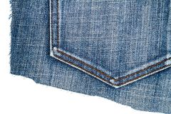 Pezzo di tessuto delle blue jeans immagine stock libera da diritti
