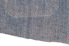 Pezzo di tessuto delle blue jeans fotografia stock libera da diritti