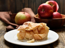 Pezzo di torta di mele Immagini Stock Libere da Diritti