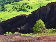 Pezzo di vulcano del dolce Fotografie Stock Libere da Diritti