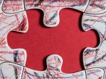 Pezzo finale di puzzle Fotografie Stock