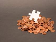 Pezzo finanziario di puzzle Fotografia Stock