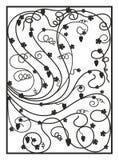 Pezzo fucinato artistico, il nero, ornamento floreale, uva Immagini Stock