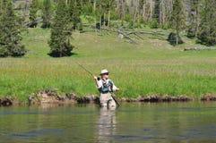 Pezzo fuso maggiore del fisherwoman Fotografia Stock Libera da Diritti
