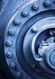 Pezzo industriale in blu fotografie stock libere da diritti