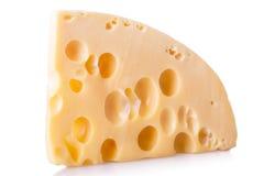 Pezzo isolato di formaggio Immagini Stock Libere da Diritti