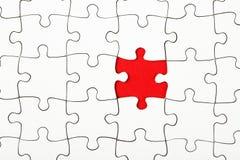 Pezzo mancante in un puzzle, concezione di affari Fotografia Stock Libera da Diritti