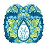 Pezzo ornamentale isoleted floreale di arte Immagini Stock