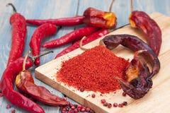 Pezzo rosso del peperoncino Immagini Stock Libere da Diritti