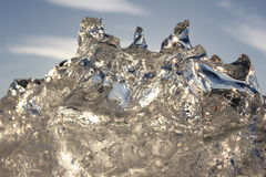 Pezzo stupefacente di ghiaccio Fotografie Stock