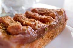 Pezzo succoso di bacon Fotografia Stock Libera da Diritti