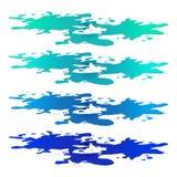 Pfütze von Wasserfleck- clipart Blauer Fleck, Plash, Tropfen Vektorillustration lokalisiert auf dem weißen Hintergrund vektor abbildung