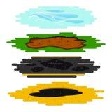 Pfützen von den verschiedenen Arten eingestellt Lizenzfreie Stockbilder