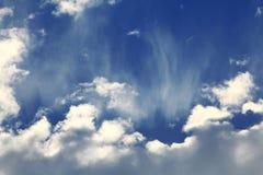 Pf σύστασης σύννεφα ουρανού vanila Στοκ Εικόνα