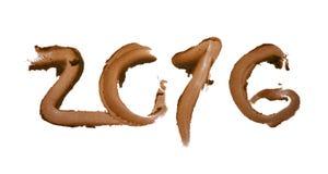 PF 2016 cagado ou número do chocolate Imagens de Stock