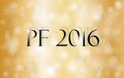 PF 2016. Happy new year greeting card. Royalty Free Stock Photo