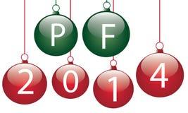 PF 2014. Illustration of balls with wish PF 2014 Stock Photo