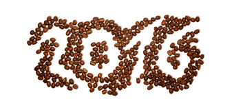 PF 2016 koffiebonen Royalty-vrije Stock Afbeelding