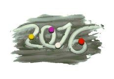 PF 2016 koloru plasteliny liczba z piłkami Royalty Ilustracja