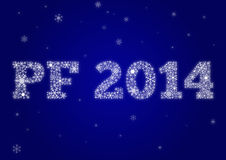 PF 2014. Made from snowflakes vector illustration