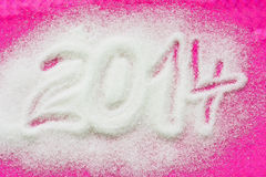 PF 2014 made from the sugar Stock Photos