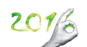 PF 2016 ręki zielona liczba Zdjęcia Royalty Free