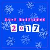 Pf 2017 - text med snöflingor Arkivfoto
