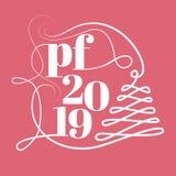 PF 2019 vierta el féliciter imágenes de archivo libres de regalías