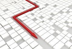 Pfad über Labyrinth Stockfotos