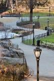 Pfad in Central Park stockfoto