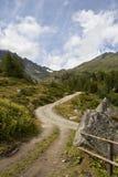Pfad in den Alpen stockfotos