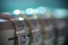 Pfad des Kombinationsschlosses Abstrakter undeutlicher Hintergrund lizenzfreies stockbild