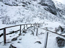 Pfad des Winters Lizenzfreies Stockbild
