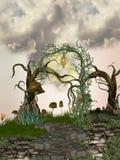 Pfad im Baum lizenzfreie abbildung