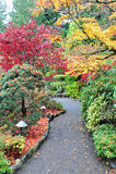 Pfad im Garten Stockfoto