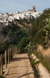 Pfad nach Arcos de la Frontera Stockfotos