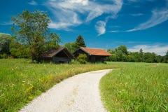 Pfad um den See Staffelsee im Bayern Lizenzfreie Stockfotos