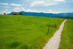Pfad um den See Staffelsee im Bayern Lizenzfreies Stockbild