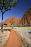Pfad um Uluru (Ayers Felsen) Lizenzfreie Stockfotografie
