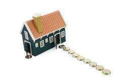 Pfad zum Eigenheimbesitze Stockbilder