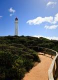 Pfad zum Leuchtturm lizenzfreies stockbild