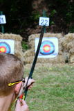 Pfadfinder Archery Lizenzfreie Stockfotos