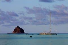 Pfadfinder-Hut-Insel Stockfoto