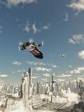 Pfadfinder-Lieferung auf abschließendem Landung-Anflug Stockfoto
